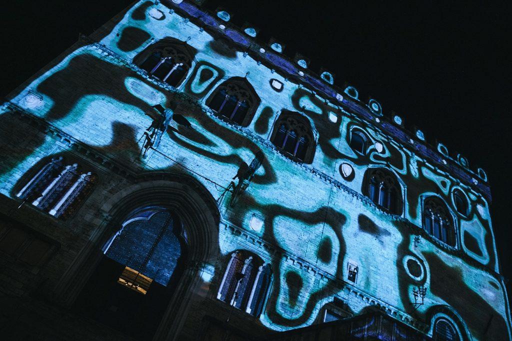 videomapping Palazzo dei Priori Perugia